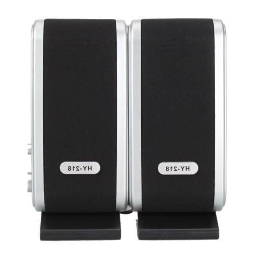 wired usb power speakers stereo 3 5mm
