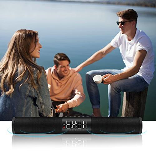 Sound Wired and LED Bass Speaker with Alarm Clock TV iPhone and