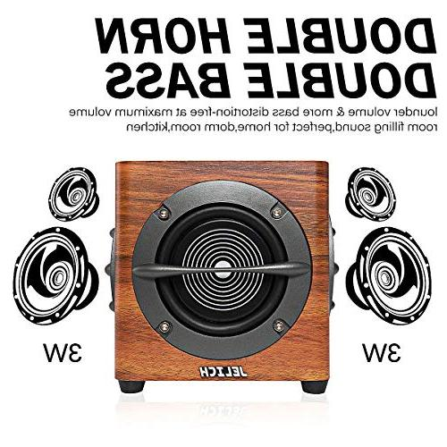 JELICH Wood Speaker – Powered Multimedia with PC Phone