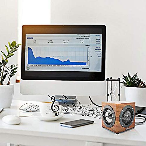 JELICH Computer Speaker – Powered Multimedia Small with Double PC /Desktop /Laptops /Smart Phone