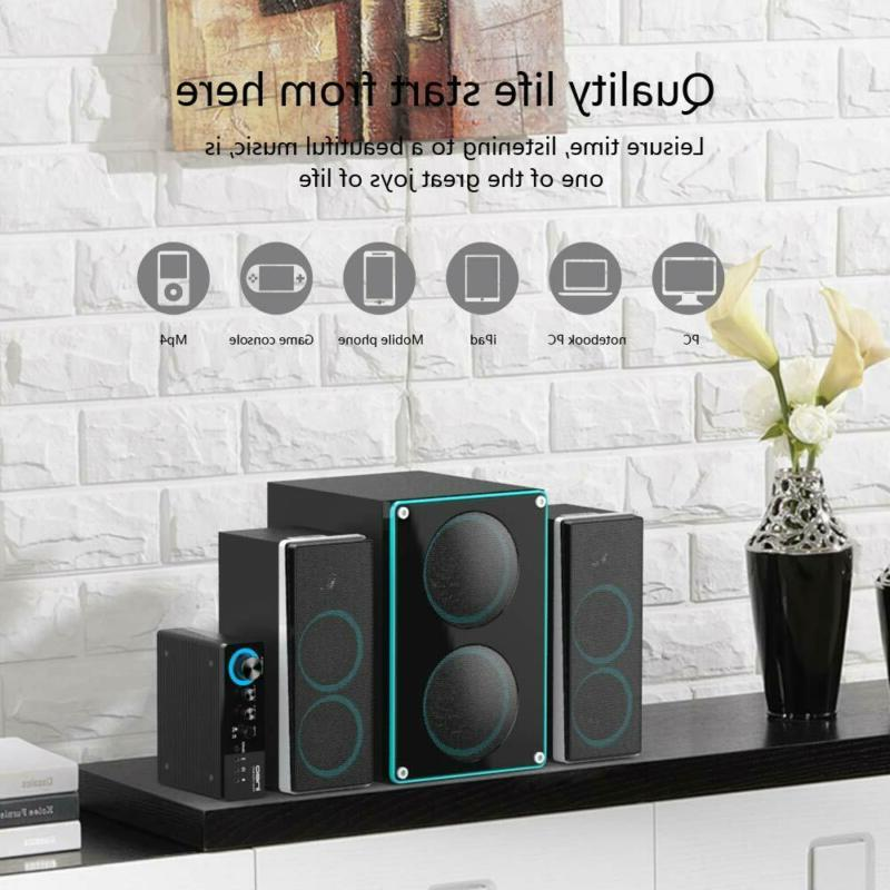 ineo Wooden 2.1 Speakers with Subwoofers and Individual