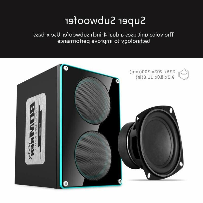 ineo Wooden 2.1 Speakers with Individual Control