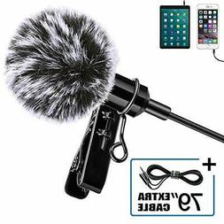 Lavalier Lapel Microphone 360 Degree Omnidirectional Mic for