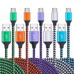 Micro USB Cable, Ailkin 5-Pack 6.6ft High Speed Nylon Braide