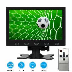 "7"" LCD CCTV PC Monitor Screen W/Speaker AV/VGA/HDMI 1080P fo"