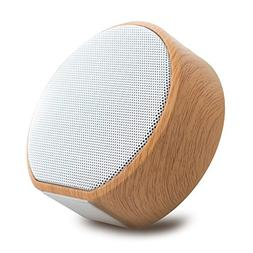 Mini Bluetooth Speaker, GIZEE Portable Retro Wood Grain Audi