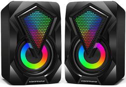 mini computer gaming speakers 2 0 usb