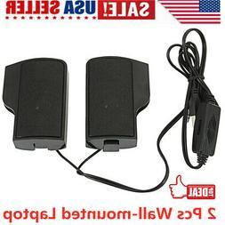 Mini Computer Speakers USB AUX Jack 3.5mm PC Desktop Laptop