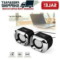 Mini Computer Speakers USB PC Desktop Laptop TV Stereo Sound