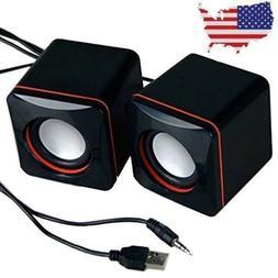 Mini Desktop Computer Speaker Stereo Bass PC Speakers for La