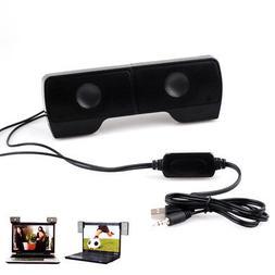 Portable USB Stereo Speaker Soundbar for Notebook Laptop PC