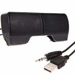 Mini Portable USB Stereo Speaker Soundbar for Notebook Lapto