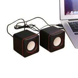 Mini Speaker Portable USB 2.0 Wired Speakers  3.5mm Jack for