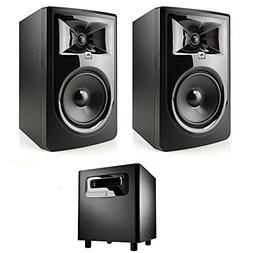 "JBL 306P MkII 6.5"" Studio Monitoring Speakers  w/JBL LSR310S"