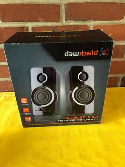 BlackWeb MultiMedia PC Speakers MP3 Input 3.5mm Aux Input Ne