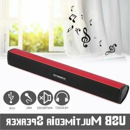 Multimedia USB Powered Mini Soundbar Speaker for Computer De