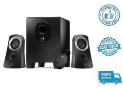 New Logitech Black Media 2.1 Speaker System Subwoofer For Co