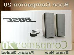 NEW Bose Companion 20 Multimedia Speaker System  Factory Sea