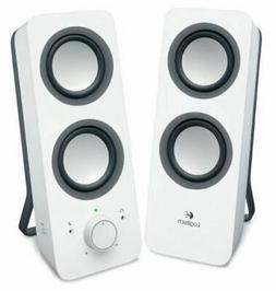 New  New Logitech Z200 Multimedia Speakers Stereo Sound Snow
