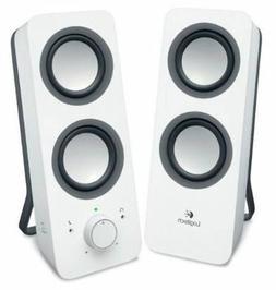 New Logitech Z200 Multimedia Speakers Stereo Sound Snow Whit