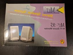NOS Vintage Retro PC MLI MLI-95 Hi Fi Sound Monitor Stereo S