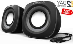 OfficeTec USB Computer Speakers Compact 2.0 System for Mac a