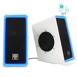 PC Computer USB Powered Speakers w/ 3.5mm AUX Input by GOgro