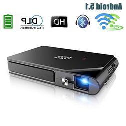 Mini Pico Video Projector DLP 1080P Wireless WiFi Bluetooth