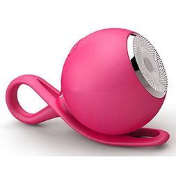 CARBAYSTAR Pink Waterproof Ball Shape Wireless Bluetooth, Ou