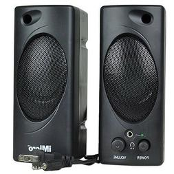 iMicro 2.0 Channel Plastic Multimedia Speaker System, Black