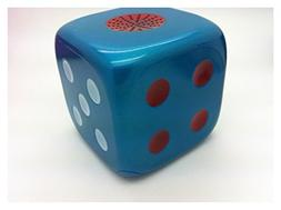 Portable blue square 6.5cm dice style TF USB disk speaker FM
