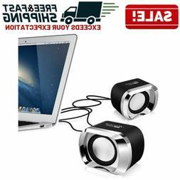 Portable Computer Speakers Set PC Desktop Laptop TV Compact