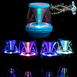 portable led stereo bluetooth speaker wireless bass