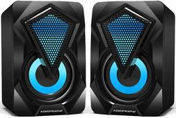 Portable Mini Computer Speakers, 2.0 USB Powered Stereo 3.5m