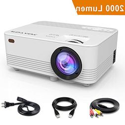 POYANK 2000LUX LED Mini Projector, WiFi Directly Connect wi