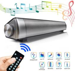 Portable Soundbar for TV/PC, Wired & Wireless Bluetooth Spea