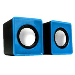 Portable Mini USB 2.0 & 3.5mm plug Wired Sound Speaker for D