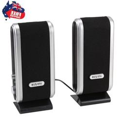 Portable USB Multimedia Stereo Speakers System For PC Laptop