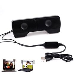 Portable USB Stereo Speaker Soundbar for Notebook Laptop PC