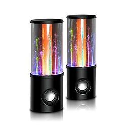 Aolyty Portable 6 Watt Water Dancing Fountain Speakers with