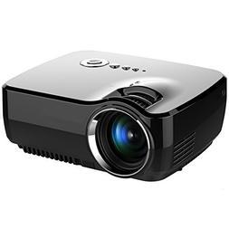 Projector, Zenhon Mini Portable Video LED Projector 1080P fo