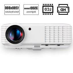 3500 Lumen HD 1080P LCD Projector Home Theater with HDMI VGA