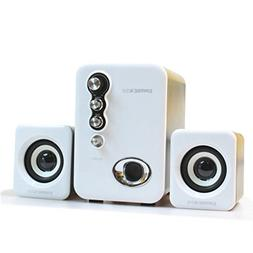 EARISE Q8 USB Powered 2.1 Stereo Computer Speakers with Subw