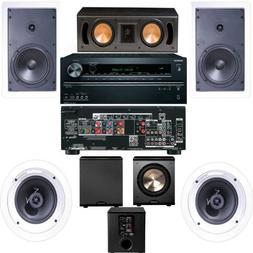 Klipsch R-1650-W In Wall #1  5.1 System-Onkyo TX-NR626 7.2-F