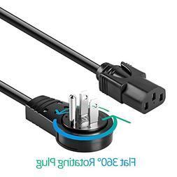 Maximm 3 Feet 360° Rotating Flat Plug Universal Computer Mo