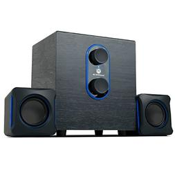 GOgroove SonaVERSE LBr 2.1 Computer Speakers with Subwoofer