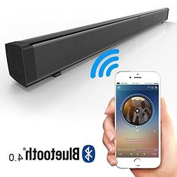 EWEMOSI Sound Bar Wireless Bluetooth 4.0 with 4 Subwoofers -
