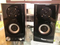 genius speakers two way wood speakers