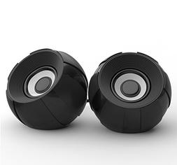 SmartStereo Portable Computer Speakers, Wired Bass Stereo De