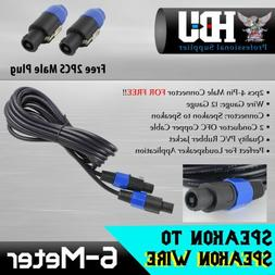 speakon cable kit 1pc audio phono speaker